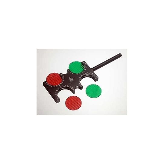 Rouge et vert maddox lentilles